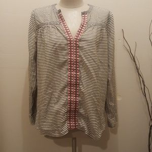J Crew Top longsleeves Blouse embroidered